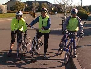 Diane Mavromatis, Lois Prebble and Tom Cholmondeley after their trip.